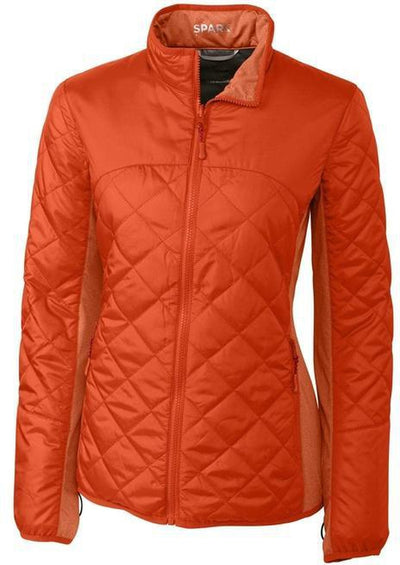 Cutter&Buck Ladies Lt Wt Sandpoint Quilted Jacket-XS-College Orange-Thread Logic