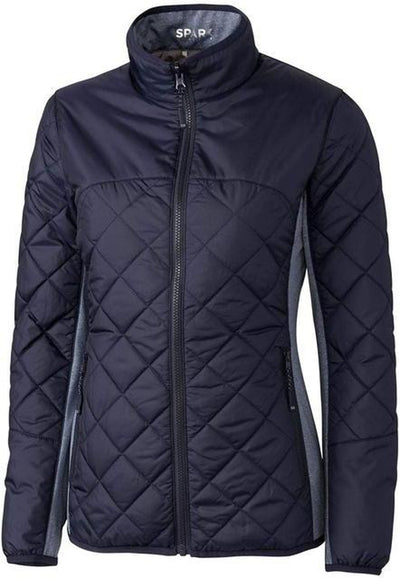 Cutter&Buck Ladies Lt Wt Sandpoint Quilted Jacket-XS-Liberty Navy-Thread Logic