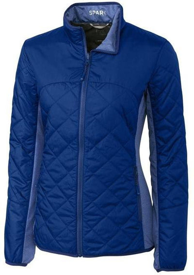 Cutter&Buck Ladies Lt Wt Sandpoint Quilted Jacket-XS-Tour Blue-Thread Logic