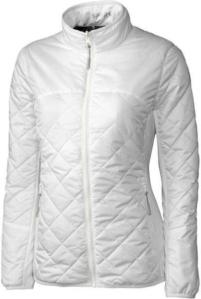 Cutter&Buck Ladies Lt Wt Sandpoint Quilted Jacket-XS-White-Thread Logic