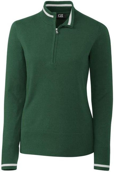 Cutter&Buck Ladies Lakemont Tipped Half Zip-XS-Hunter-Thread Logic