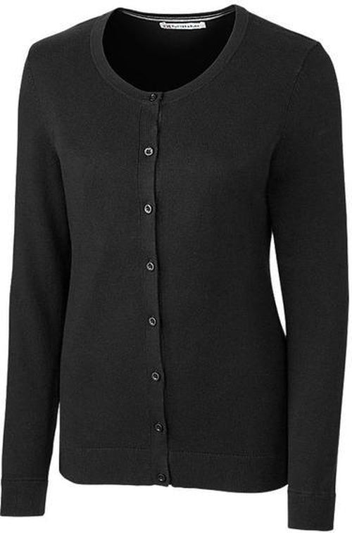 Cutter&Buck Ladies Lakemont Cardigan-XS-Black-Thread Logic