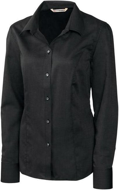 Cutter&Buck Ladies L/S Epic Easy Care Nailshead-XS-Black-Thread Logic