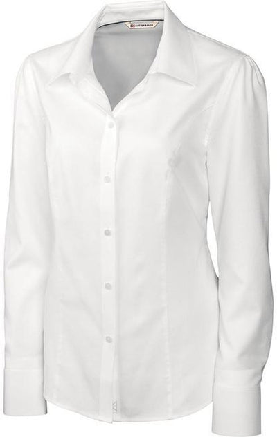 Cutter&Buck Ladies L/S Epic Easy Care Nailshead-XS-White-Thread Logic