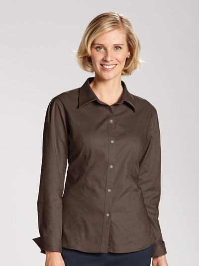 Cutter&Buck Ladies L/S Epic Easy Care Nailshead-Thread Logic