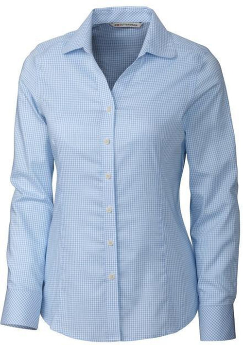 Cutter&Buck Ladies LS Epic Easy Care Tattersall-XS-Atlas-Thread Logic