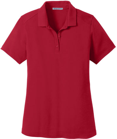 Port Authority-Ladies SuperPro Knit Polo-XS-Rich Red-Thread Logic