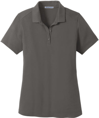 Port Authority-Ladies SuperPro Knit Polo-XS-Sterling Grey-Thread Logic
