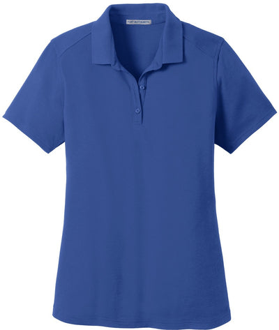 Port Authority-Ladies SuperPro Knit Polo-XS-True Blue-Thread Logic
