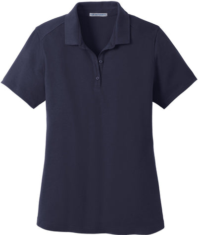Port Authority-Ladies SuperPro Knit Polo-XS-True Navy-Thread Logic