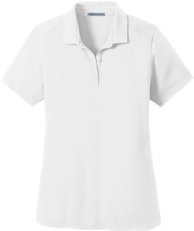Port Authority-Ladies SuperPro Knit Polo-XS-White-Thread Logic