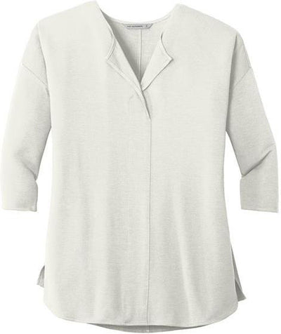 Port Authority-Ladies Concept 3/4-Sleeve Soft Split Neck Top-XS-Ivory Chiffon-Thread Logic
