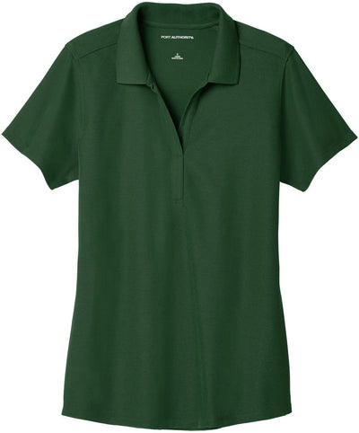 Port Authority-Ladies EZPerformance Pique Polo-XS-Deep Forest Green-Thread Logic
