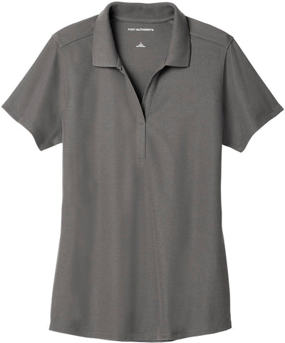 Port Authority-Ladies EZPerformance Pique Polo-XS-Sterling Grey-Thread Logic