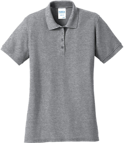 Athletic Heather Ladies 50/50 Pique Polo