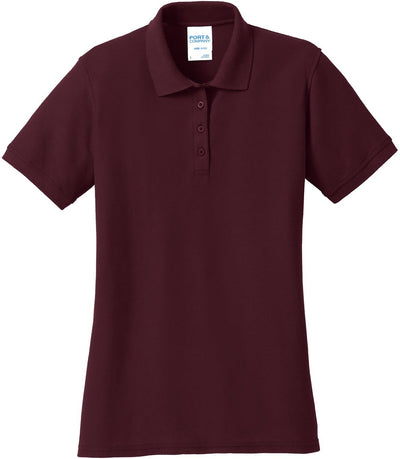 Athletic Maroon Ladies 50/50 Pique Polo