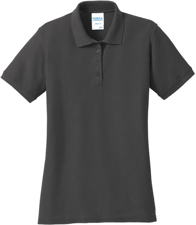 Port Authority-Ladies 50/50 Pique Polo-XS-Charcoal-Thread Logic