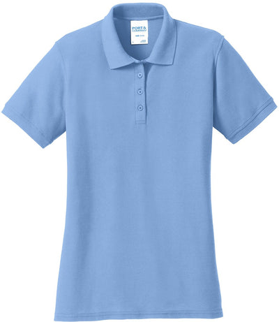Light Blue Ladies 50/50 Pique Polo