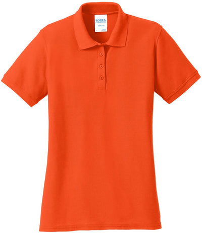 Orange Ladies 50/50 Pique Polo