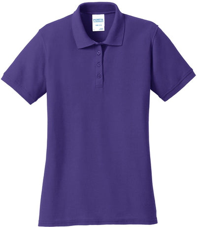 Purple Ladies 50/50 Pique Polo