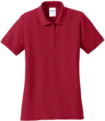 Red Ladies 50/50 Pique Polo