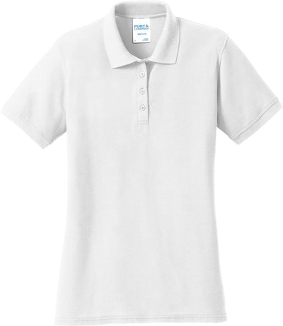 White Ladies 50/50 Pique Polo