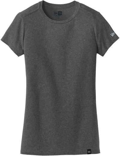 New Era Ladies Heritage Blend Crew Tee-XS-Black Heather-Thread Logic