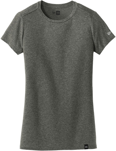 New Era Ladies Heritage Blend Crew Tee-XS-Black Twist-Thread Logic