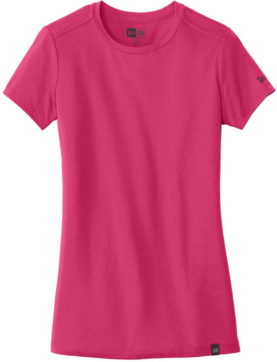 New Era Ladies Heritage Blend Crew Tee-XS-Deep Pink-Thread Logic