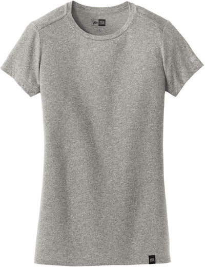 New Era Ladies Heritage Blend Crew Tee-XS-Light Graphite Twist-Thread Logic