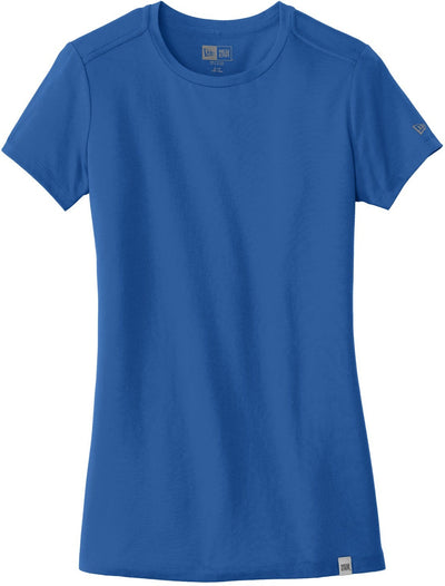 New Era Ladies Heritage Blend Crew Tee-XS-Royal-Thread Logic