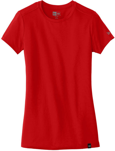 New Era Ladies Heritage Blend Crew Tee-XS-Scarlet Red-Thread Logic