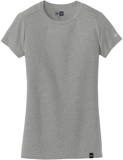 New Era Ladies Heritage Blend Crew Tee-XS-Shadow Grey Heather-Thread Logic