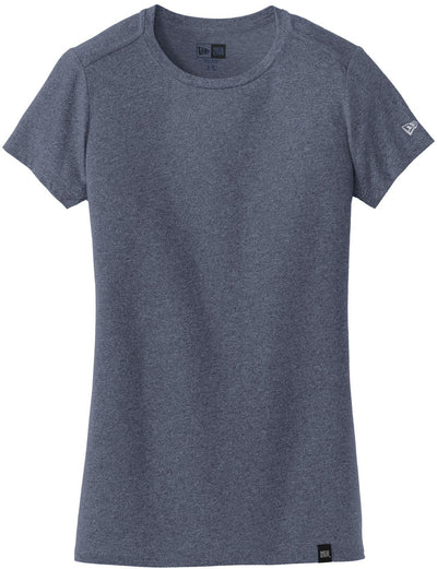 New Era Ladies Heritage Blend Crew Tee-XS-True Navy Heather-Thread Logic