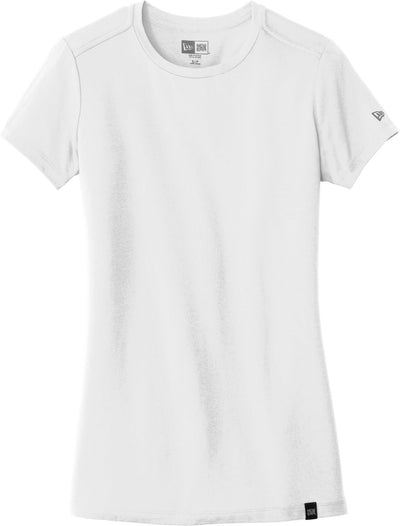 New Era Ladies Heritage Blend Crew Tee-XS-White-Thread Logic