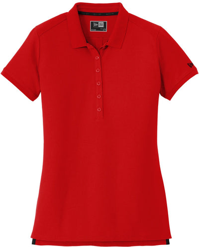 Scarlet Red New Era Ladies Venue Home Plate Polo