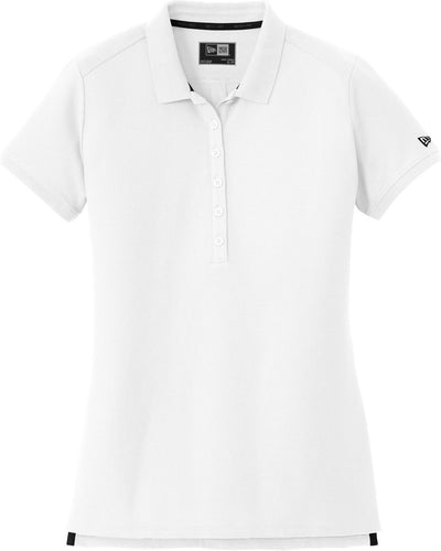 White New Era Ladies Venue Home Plate Polo
