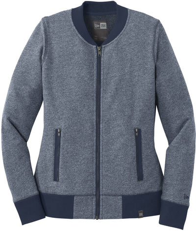 New Era Ladies French Terry Baseball Full-Zip-XS-True Navy Twist/True Navy-Thread Logic