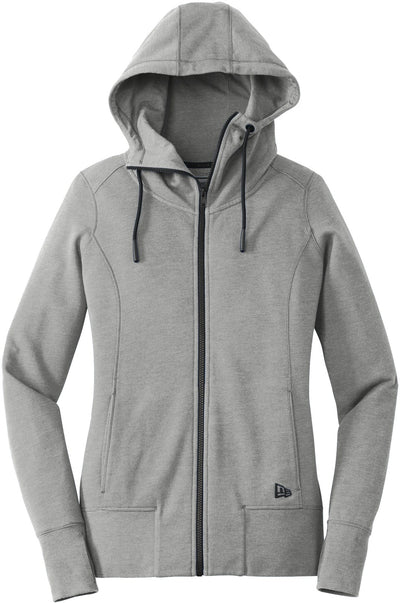 New Era Ladies Tri-Blend Fleece Full-Zip Hoodie-XS-Shadow Grey Heather-Thread Logic