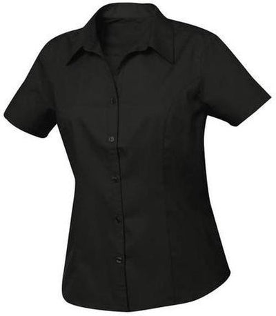 Clique Ladies Caitlin S/S Easy Care-XS-Black-Thread Logic