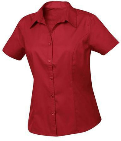 Clique Ladies Caitlin S/S Easy Care-XS-Deep Red-Thread Logic