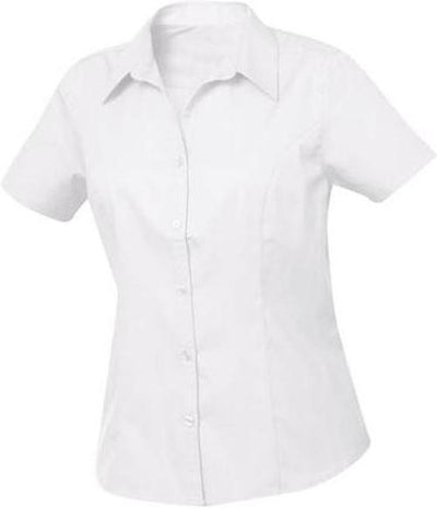 Clique Ladies Caitlin S/S Easy Care-XS-White-Thread Logic