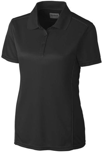 Clique Ladies Ice Sport Polo-XS-Black-Thread Logic