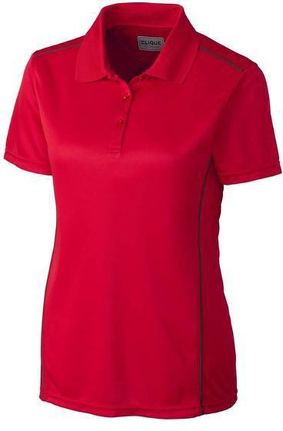 Clique Ladies Ice Sport Polo-XS-Red-Thread Logic