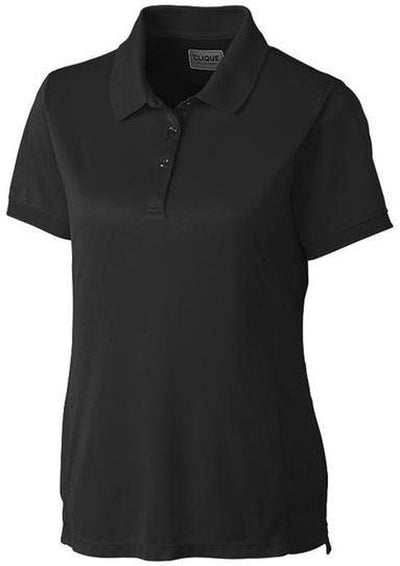 Clique Ladies Oslo Pique Polo-XS-Black-Thread Logic