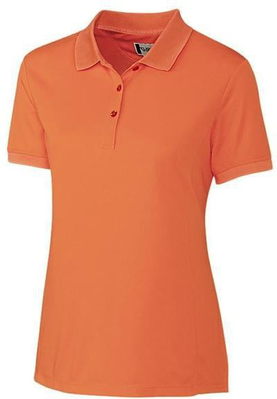 Clique Ladies Oslo Pique Polo-XS-Orange-Thread Logic