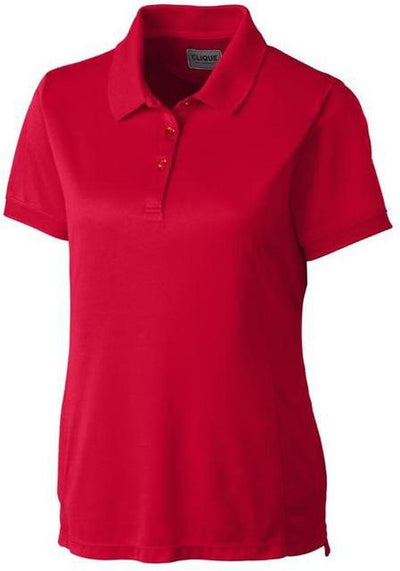 Clique Ladies Oslo Pique Polo-XS-Red-Thread Logic