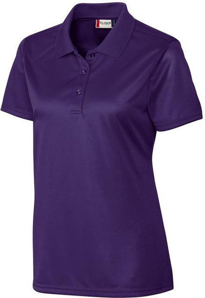 Clique Ladies Malmo Snag Proof Polo-XS-College Purple-Thread Logic