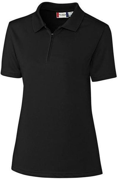 Black Clique Ladies Malmo Snag Proof Zip Polo