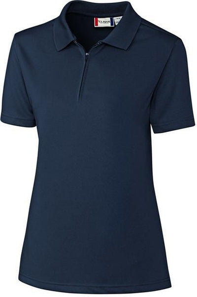 Navy Clique Ladies Malmo Snag Proof Zip Polo